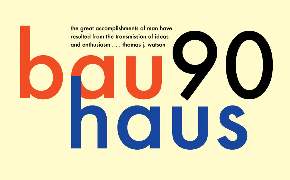 bauhaus 90th anniversary