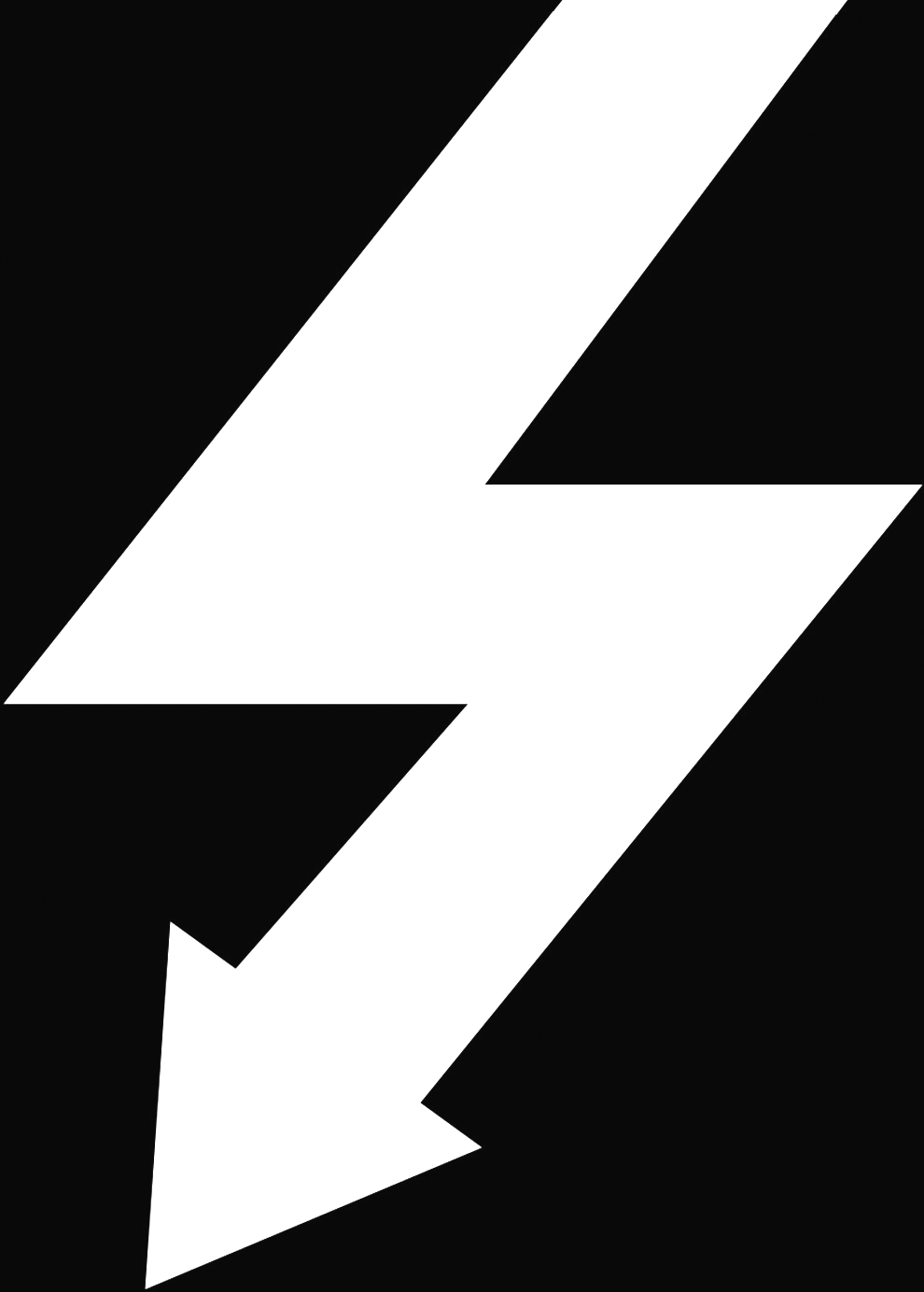 lighting bolt negative pictogram
