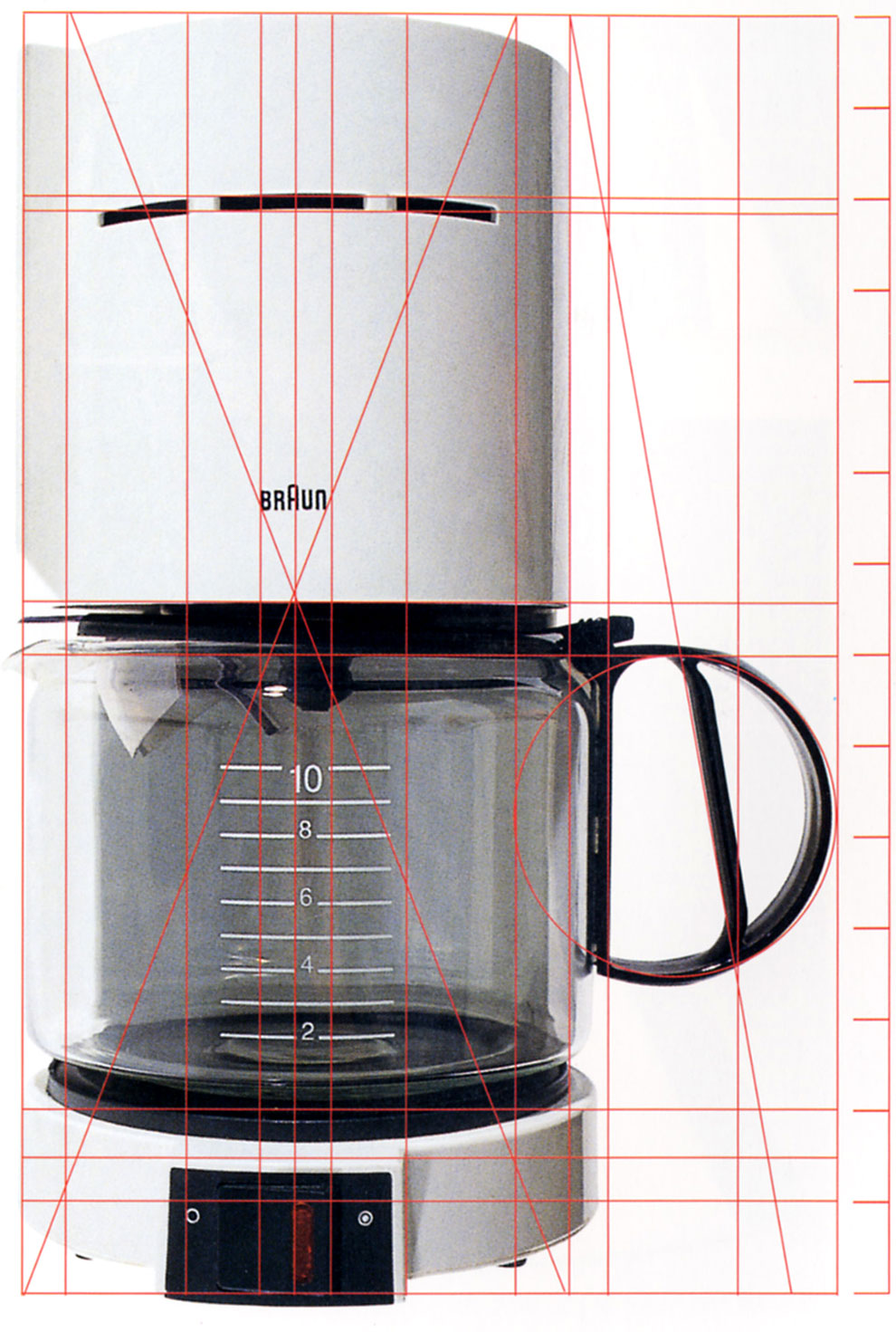 braun coffee maker, from geomertry of design by kimberly elam, page 95
