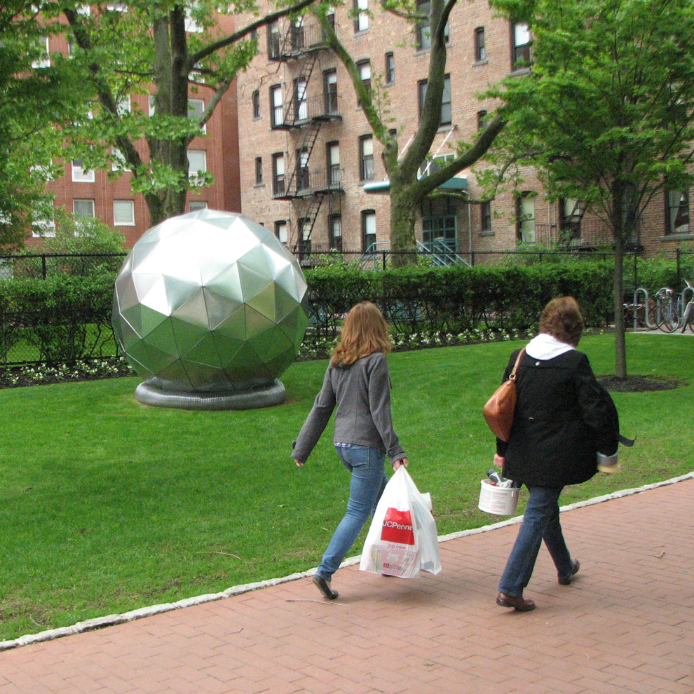 sphere, by hank di ricco's & his students, 2008-09