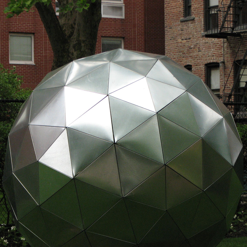 bucky sphere, built by di ricco's foundation students, 2008-09