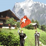 first of august, swiss postcard