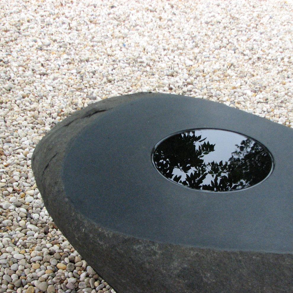 izumi masatoshi concavity at jack lenor larsen's longhouse garden, east hampton