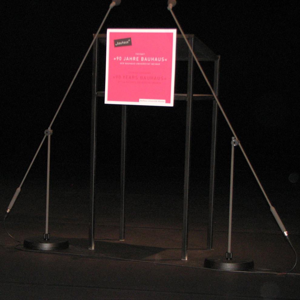 bauhaus podium, april 1st 2009