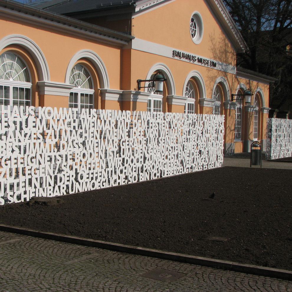 das bauhaus kommt, bauhaus museum, weimar germany, 2009