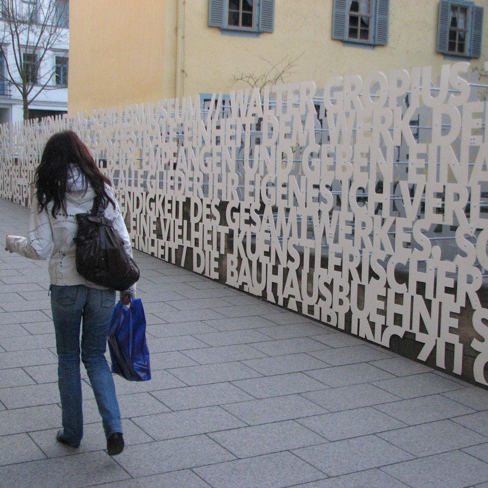 das bauhaus kommt, friedrich schiller haus, weimar germany, 2009