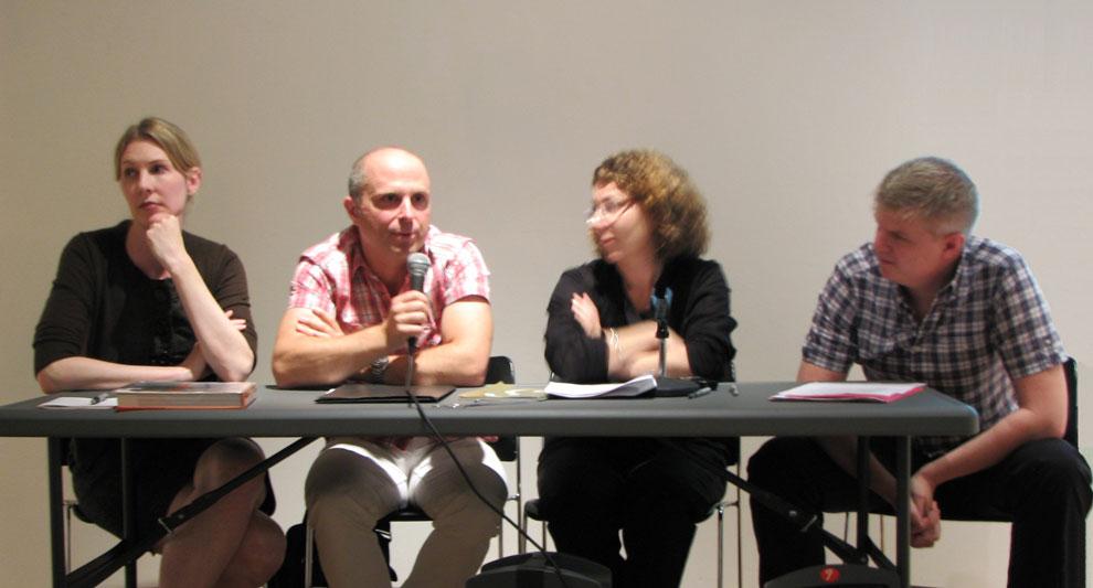 design s, panel, left to right: kathrine nelson, per bornstein, julie lasky & robert langhorn