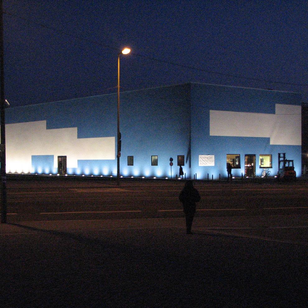 "berlin's temporary ""kunsthalle"" art gallery, schlossplatz, spring 2009"
