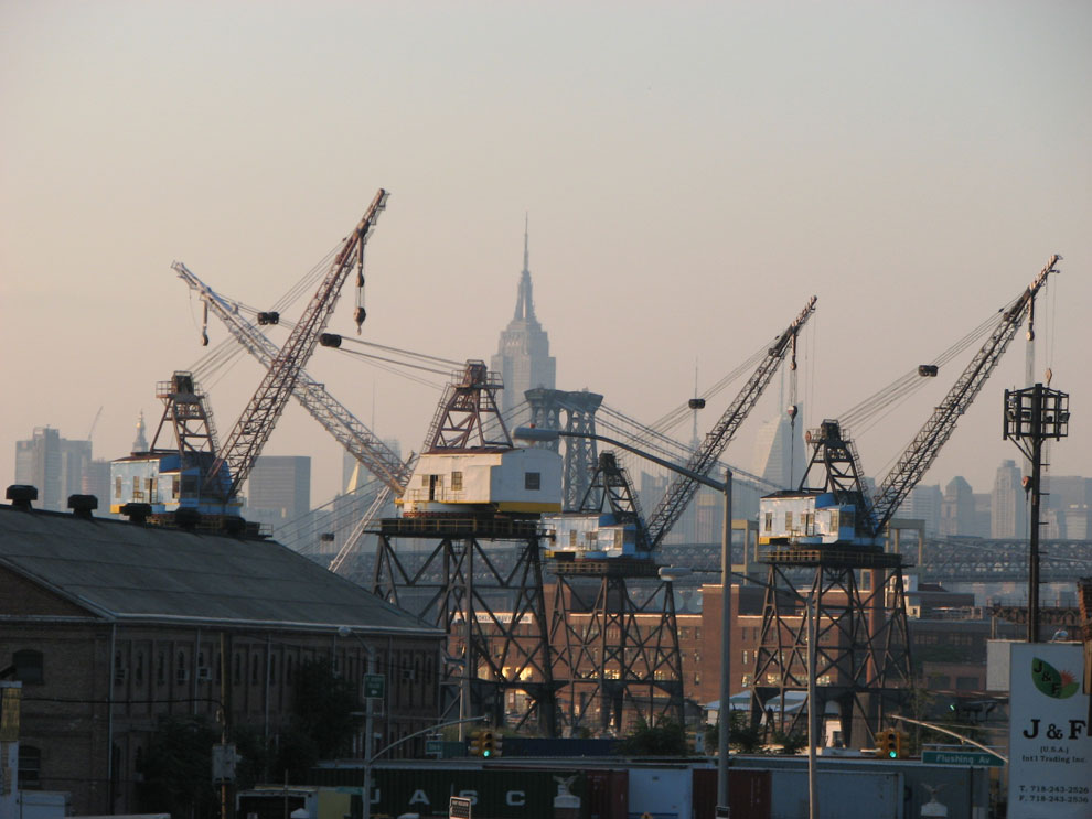 the brooklyn navy yards, as seen from park & washington avenue . . .