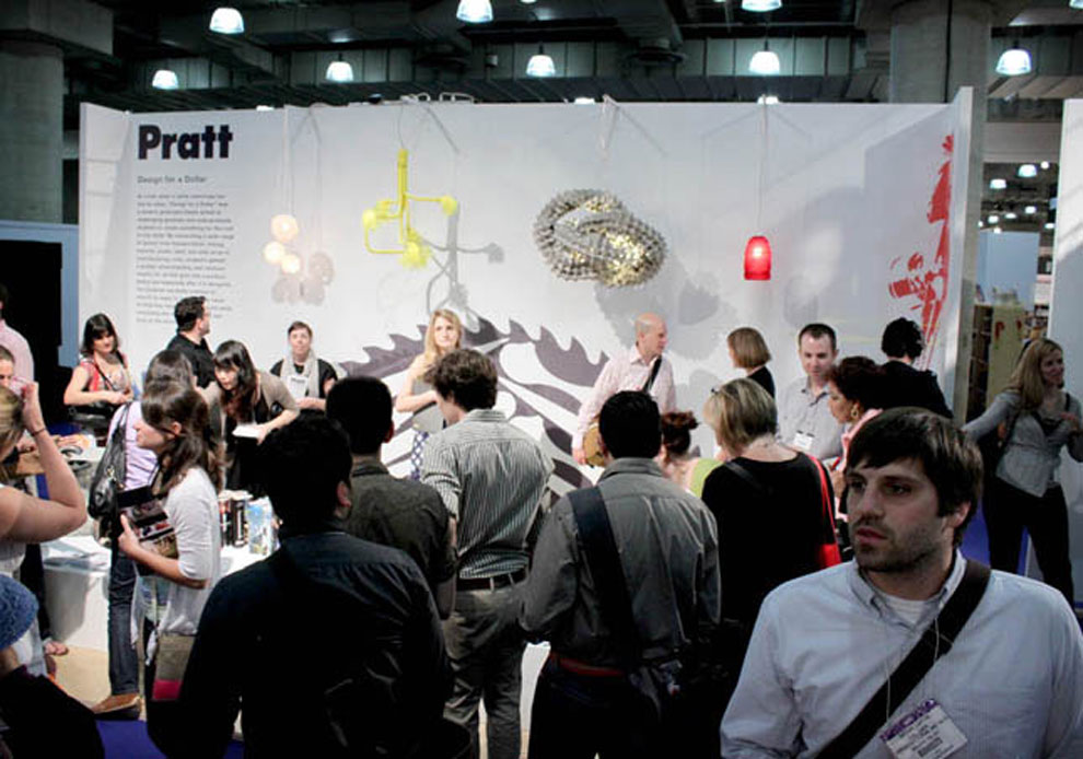 pratt's design for a dollar exhibit at icff, may 16th-19th, 2009