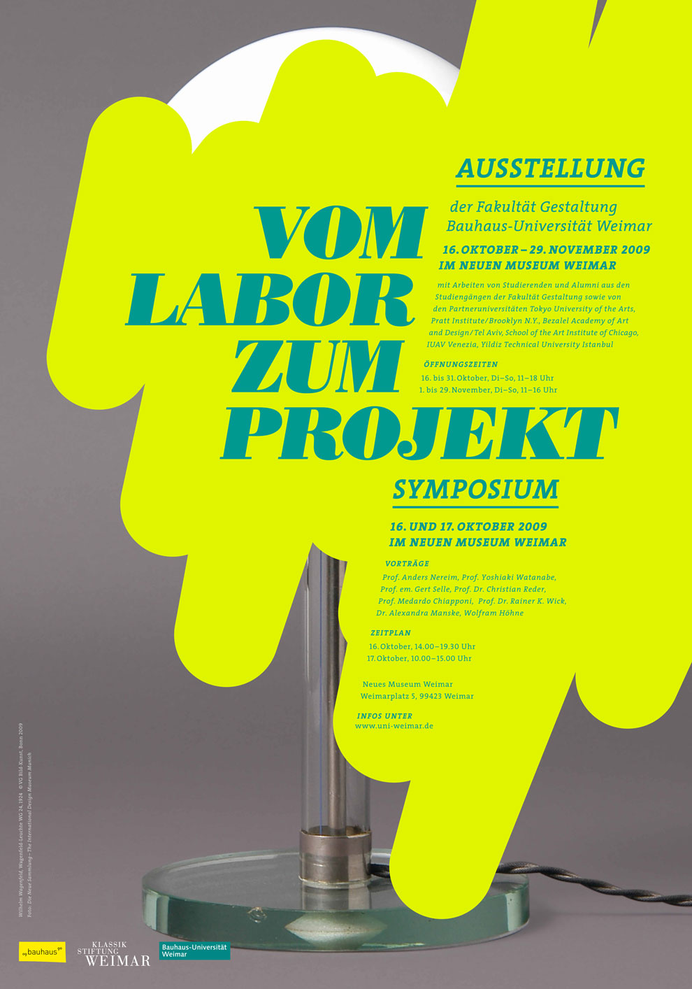 vom labor zum projekt, symposium & exhibit, autumn 2009