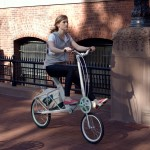 nick foley's etta concept bicycle, being ridden by renée golden, spring 2010