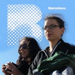 cyan capital of catalonia: barcelona blue sky on the beach 2012