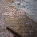painterly patina in the stairway spaces at momo's ps1. photography: matthew burger