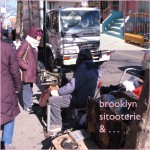 brooklyn sitooterie & a workplace on the street (even in winter) along sunset park's eight avenue. inset: a small wooden bench along sunset park's sixth avenue. photographer: matthew burger