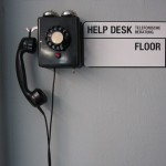 the help desk telephone at freitag's flagship store in zürich. photographay: matthew burger
