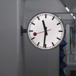 sbb cff ffs: swiss federal railways clock, design by hans hilfiker