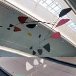 """flight"" mobile by alexander calder, at the international arrivals terminal 4, jfk airport, new york city. photography: matthew burger"